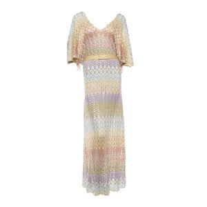Missoni Orange Label Knit Zigzag Maxi Dress & Belt